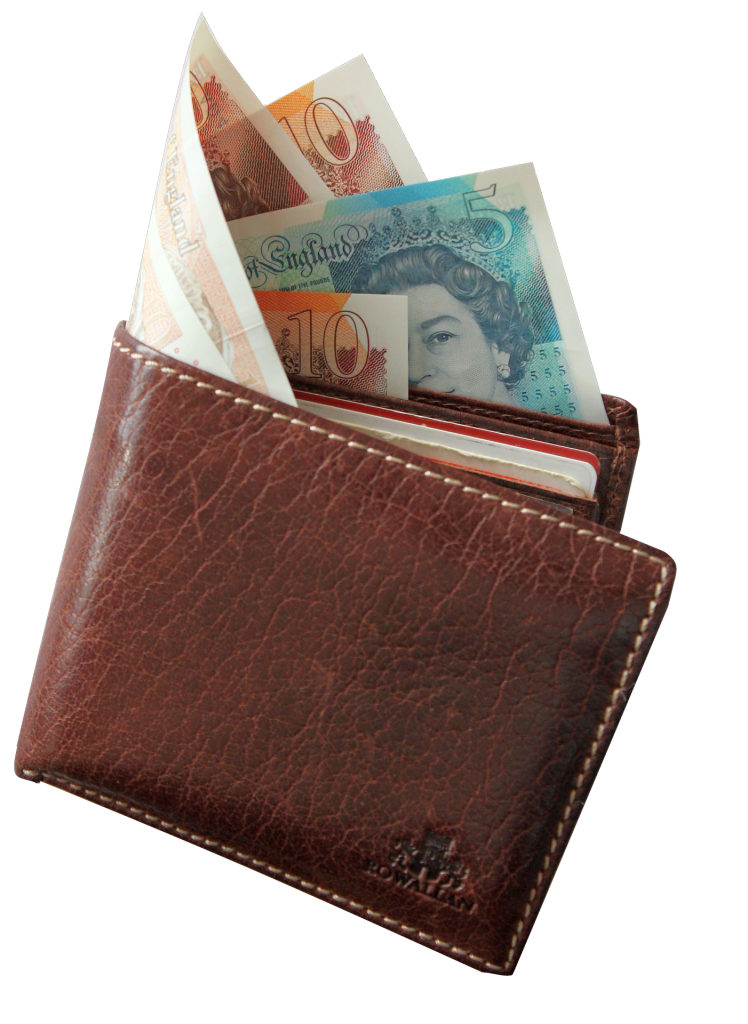 British pounds in wallet