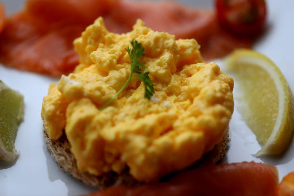 Soft food, egg paste