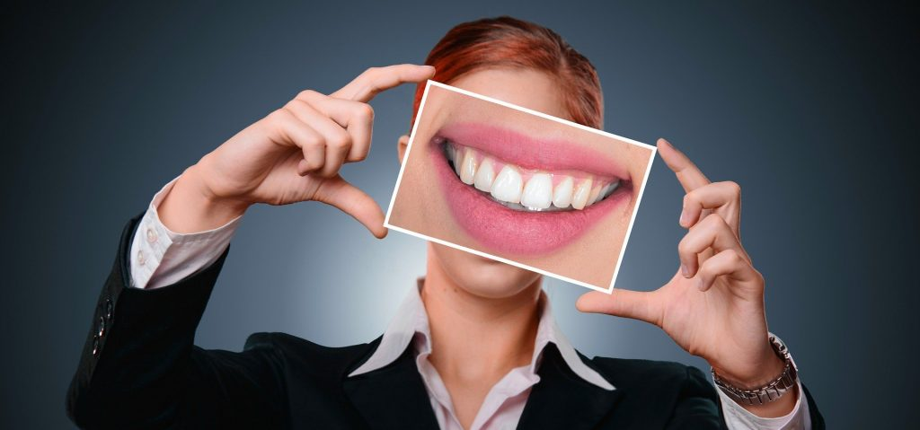 smiling woman and teeth